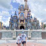 Amber visiting Disney's Castle